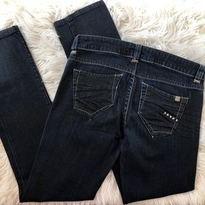 Bebe Straight Leg Jeans Montreal Wash Sz 27